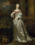 'A Woman in a Satin Dress' by Caspar Netscher, 1668