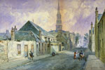 'Buchan Street, Gorbals, with Old Parish Church, 1848' by William Simpson, 1898