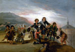 'Boys Playing at Soldiers', 1776-1786 by Francisco Jose de Goya y Lucientes, Spanish School
