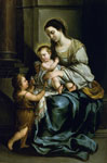 'Virgin and Child with St. John', 1637-1682 by Bartolome Esteban Murillo, Spanish School