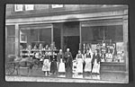 Edwardian grocery with staff
