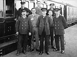 Whithorn railway staff, c 1920