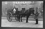 Horse-drawn milk delivery cart, Whithorn, 1930s