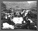 Picnic party, Galloway Hills, c1900