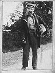 'Keck', a farm tramp, at Claycrop, Kirkinner, c1900