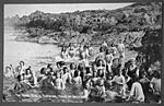 'The Home Girls' bathing, Isle of Whithorn, 1902