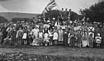 VE Day celebrations, Monreith village, 1945
