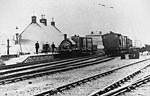 Whithorn train with staff, c 1890