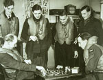602 Squadron pilots enjoying a game of chess at Drem 1940