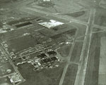 Aerial photo of Renfrew airport and surrounding area in 1947