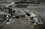 Abbotsinch aerodrome from the air after completion in 1933, seen c. 1934