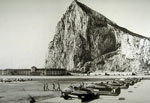 603 Squadron Vampires parked at Gibraltar during a 1956 annual camp, the last before disbanding in March 1957