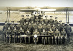 602 Squadron group photograph while at Leuchars annual camp in 1928 with trophy