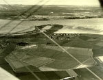 Aerial photograph of the Central Scotland airfield at Grangemouth