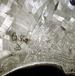 Aerial survey photograph of Prestwick and surrounding area including the airfield c1938