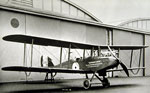 Airco DH9 biplane built at Weirs during an acceptance flight testing trial at Renfrew Aircraft Acceptance Park aerodrome Renfrew in 1918