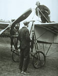 Bleriot monoplane piloted by Mr BC Hucks who demonstrated a loop manoeuvre during the show, the first in Scotland