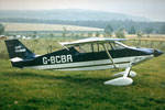 Wittman Tailwind sport monoplane at a light aircraft meeting at Kilkerran near Girvan in 1973