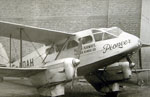 Allied Airways DH89A Dragon Rapide airliner named 'Pioneer' in 1946