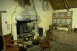 Burns Cottage, Alloway - the birthplace of Robert Burns - interior view of Kitchen