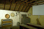 Burns Cottage, Alloway - the birthplace of Robert Burns - interior view of the Barn