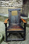 Chair (wooden armchair) which belonged to William Burnes