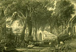 "Engraving titled ""Auld Brig o' Doon"" by W Forrest after DO Hill"
