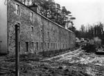 Caithness Row in New Lanark During Restoration, March 1975