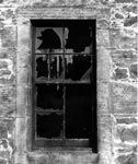 Broken window at Double Row, 1977