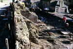 Demolition of Mantilla Row, New Lanark, February 1988