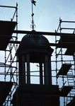Bell Tower on New Buildings During Restoration, New Lanark, November 1979
