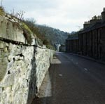 Braxfield Row Wall Before Restoration, New Lanark, 1975