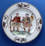 Chinese porcelain plate with images of Highland soldiers, made for the European market