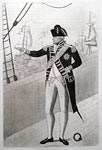 Engraving of Admiral Duncan on the quarter-deck, by John Kay