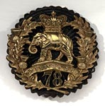 Bonnet badge of the 78th Regiment of Foot