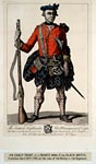 Engraving of a soldier of the Black Watch, then known as Sempill's Regiment