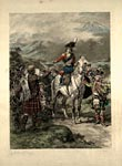 Coloured print of the raising of the Gordon Highlanders