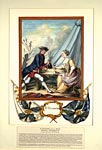 Coloured drawing of a soldier of the Royal Ecossais and his wife