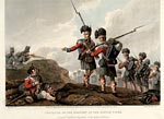 Coloured print showing Piper George Clark of the 71st Regiment of Foot, Vimiero,1808