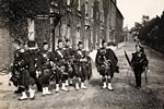 Pipers of the 2nd Battalion, Cameronians, at Aldershot