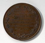 Medal commemorating Marshall MacDonald's visit to Great Britain
