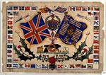 Naïve watercolour of flags, possibly pre-World War I