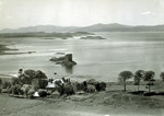 Appin Hotel, Castle Stalker and Loch Linnhe from Portnacroish