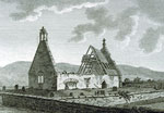 'Aloa Church Airshire', a copper plate engraving, 1790