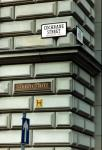 New style street signs for the Merchant City and Candleriggs