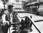 Paper making machine at Avon Paper Mills in 1966