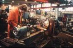 Workshop at Monktonhall Colliery, Midlothian, in 1985-1986