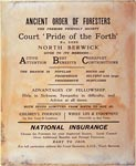 Advertising poster, Ancient Order of Foresters