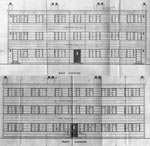 A drawing of the front and rear elevations of 75,77 Duddingston Row, Edinburgh