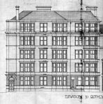 A drawing of the elevation to Rothesay Terrace, Edinburgh